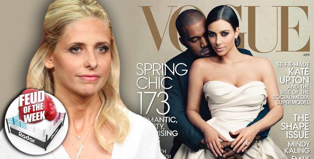 //sarah michelle gellar kim kardashian kanye west vogue
