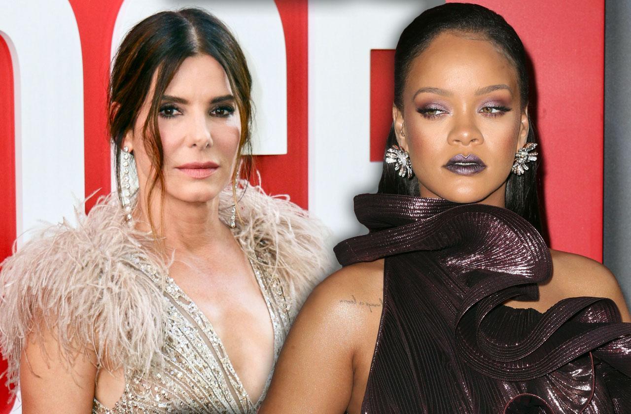 //Sandra Bullock Annoyed At Rihanna Oceans  PP
