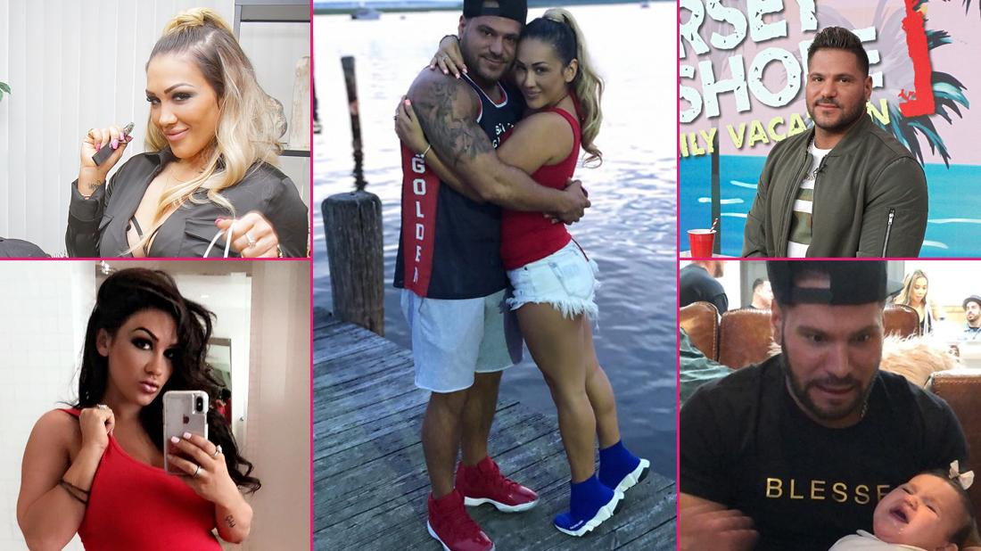 A collage of photos from Ronnie Magro Ortiz and Jen Harley's Instagram. Accompanied by a photo of Ronnie Magro Ortiz in the upper right corner and Jen Harley visiting a dispensary in the upper left corner.