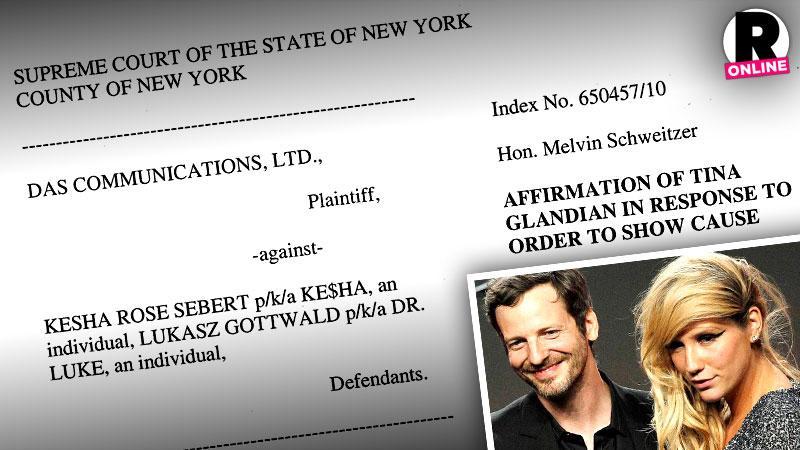 kesha dr luke sex lawsuit