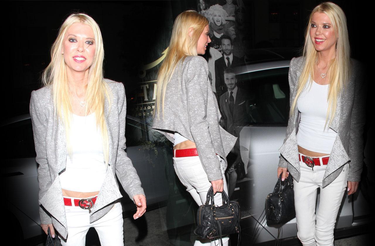 Tara Reid Scary Skinny Legs White Jeans Red Boots