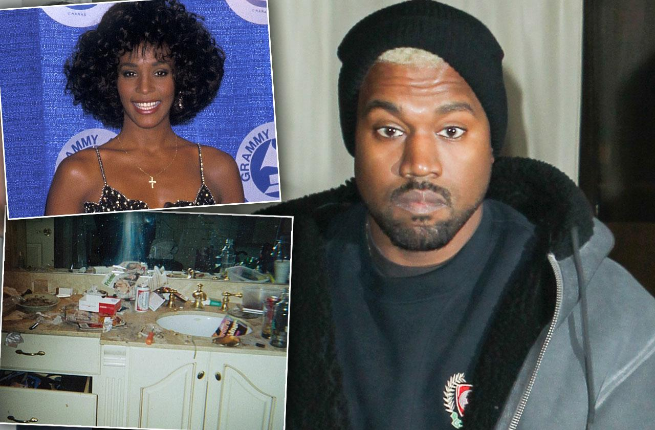 Kanye West Feud Whitney Houston Drug Bathroom