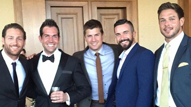 //bachelorette contestents attend zak waddell wedding pp