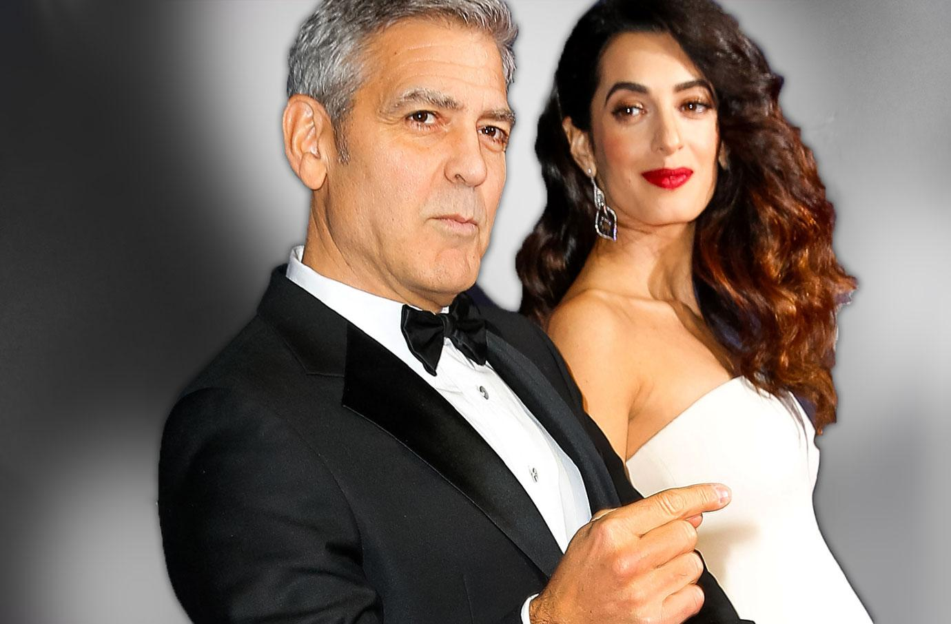 George Clooney Twins Security Baby Bouncers