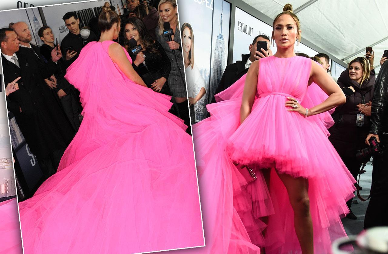 //Jennifer Lopez Hot Pink Dress Second Act Premiere pp