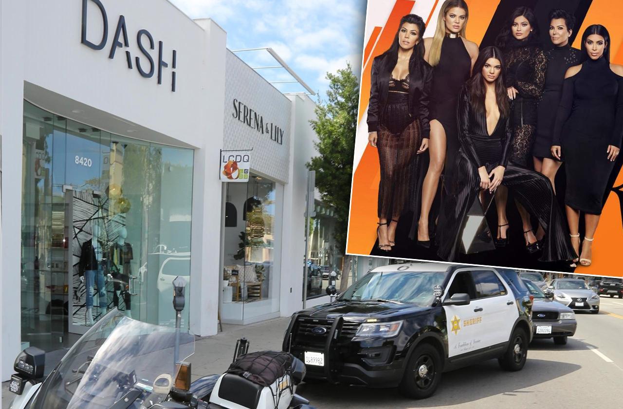kardashian store dash robbery gun threat crime scene