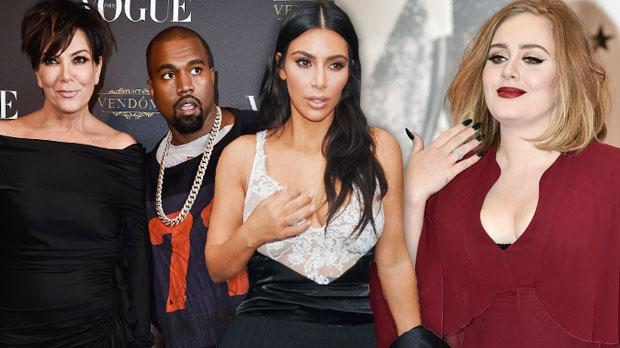 kanye west kris jenner kim kardashian dinner adele snub diss kuwtk