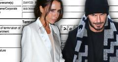 Victoria Beckham David Beckham Divorce Rumors Business Paperwork