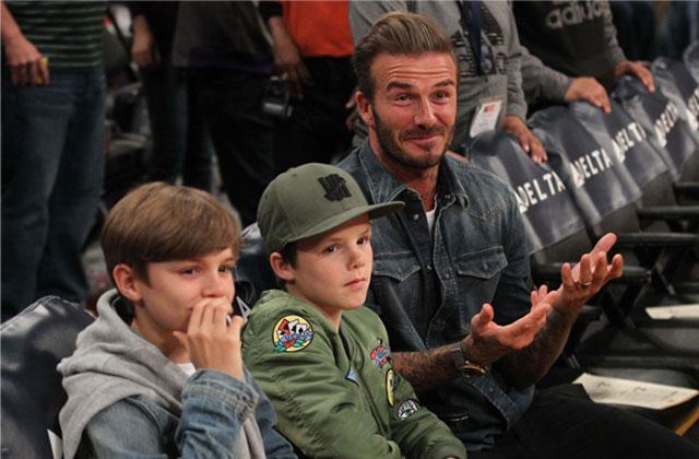 //David Victoria Beckham Divorce Rumors Separate Lives Lakers Game pp