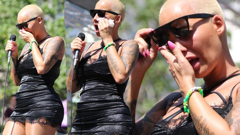 Amber Rose Breaks Down In Tears Over Kanye West Diss