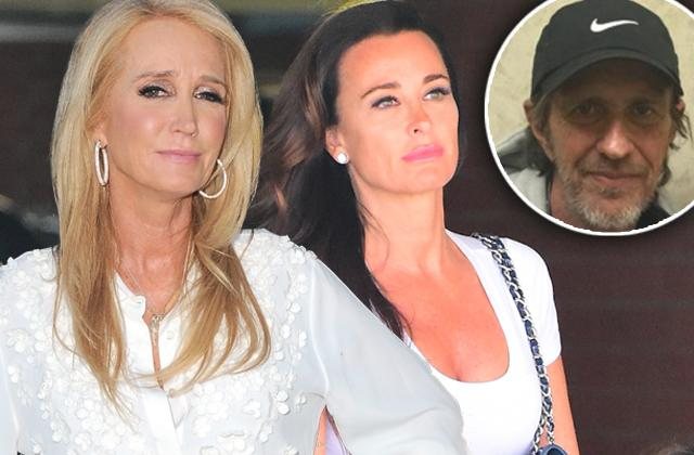 Kim Richards Good-Bye Monty Brinson Kyle Richards Attending Funeral