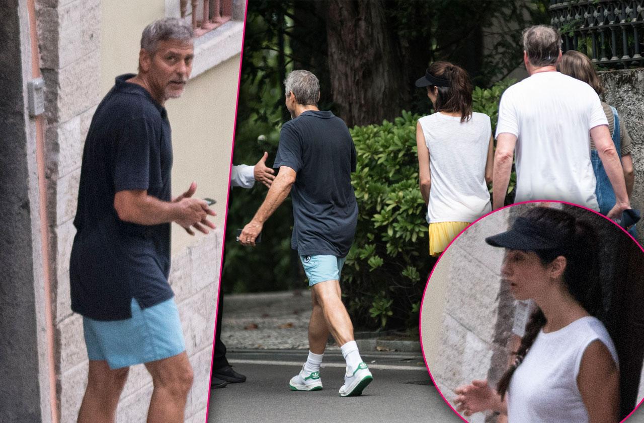 George Clooney Amal Paddle Tennis Date