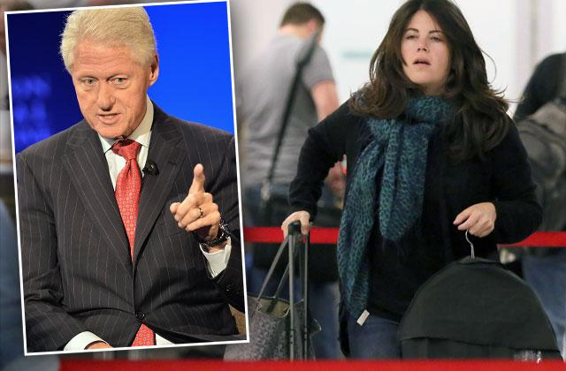 Monica Lewinsky Bill Clinton Sex Scandal Embarrassed Photos
