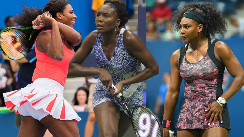 //serena williams venus williams us open tennis wardrobe malfunction pp