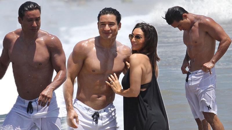 mario lopez beach wife hot body