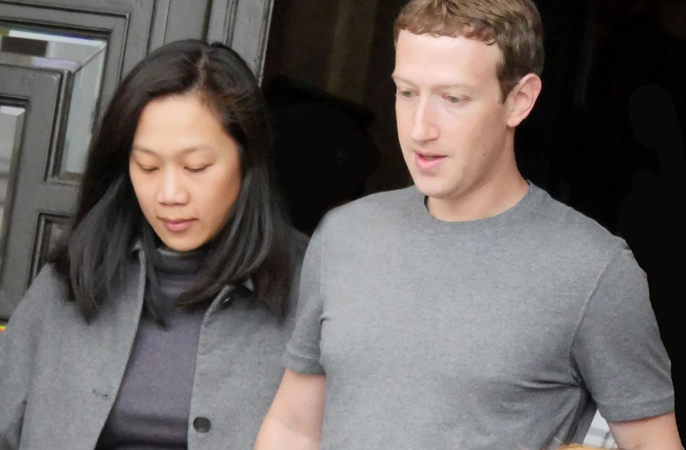 Mark Zuckerberg Flees Tech Event Posts Wife Priscilla Chan Baby Bump Photo