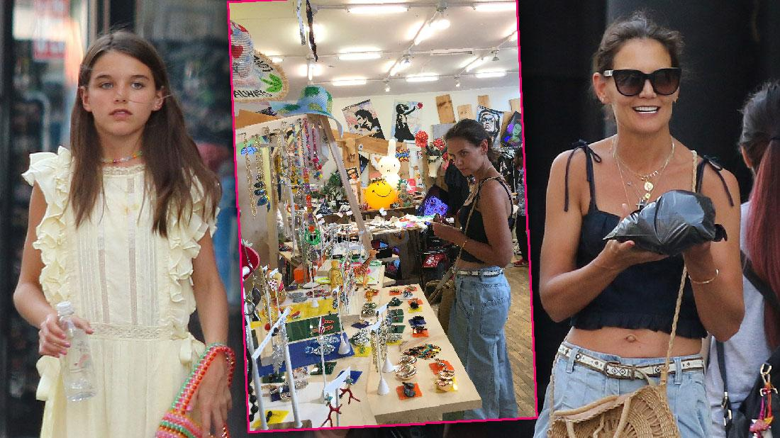 Katie Holmes And Suri Shop For Jewelry NYC
