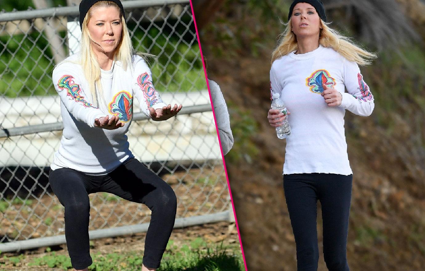Scary Skinny Tara Reid Jogs With New Fitness Trainer