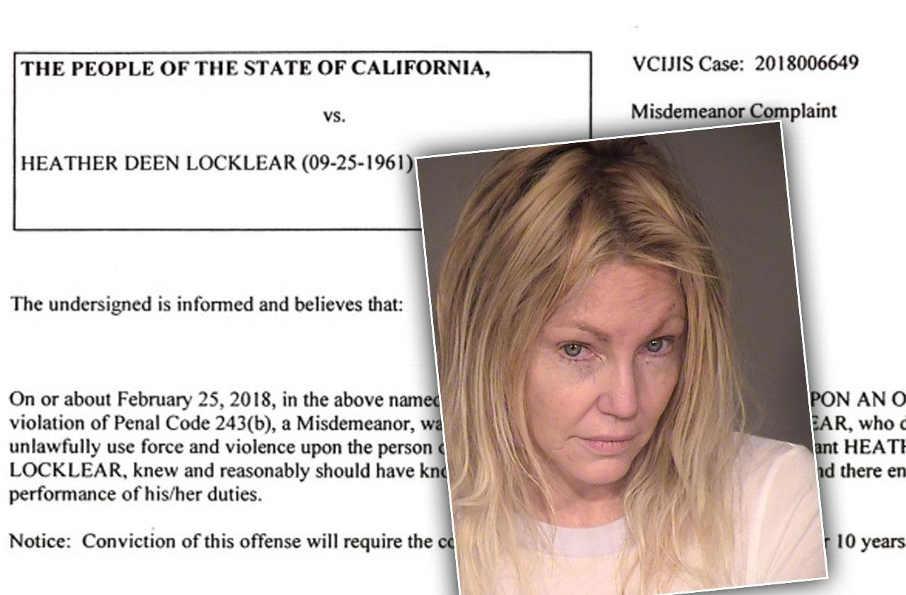 //heather locklear jail time possession gun banned pp