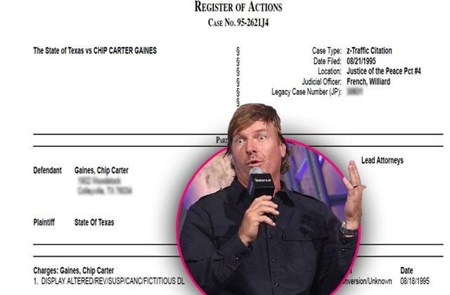 //chip gaines fixer upper caught fake license pp
