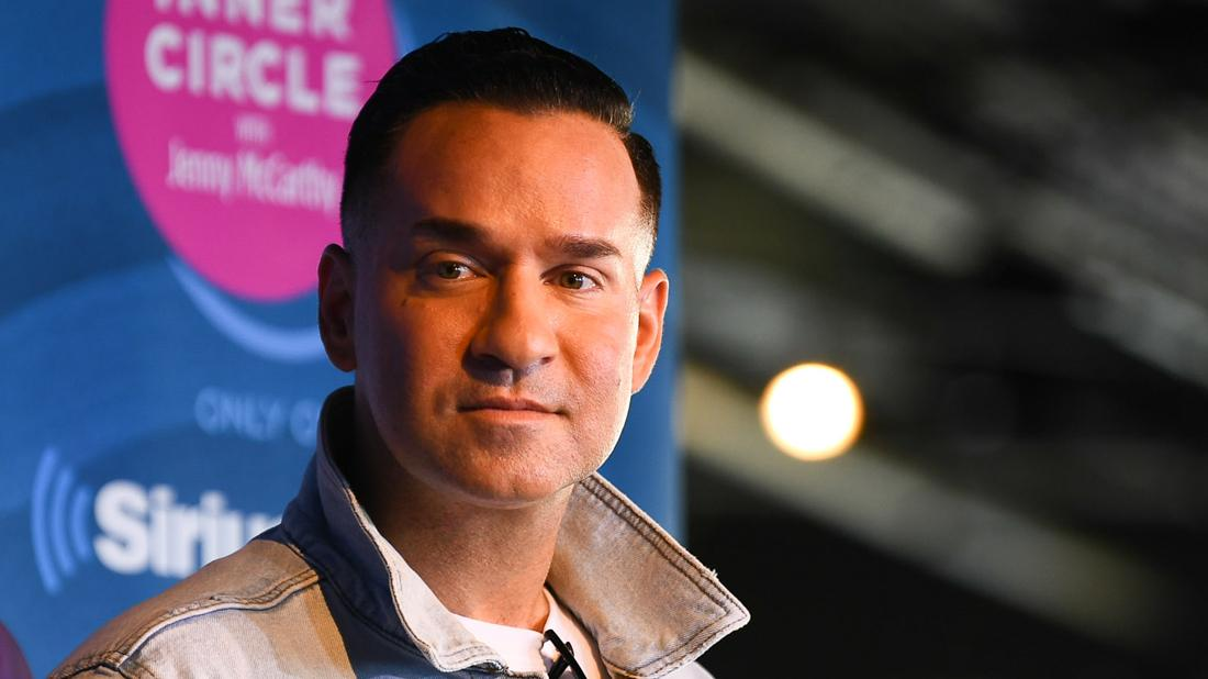 Mike Sorrentino attends a talk with the other Jersey Shore cast members.