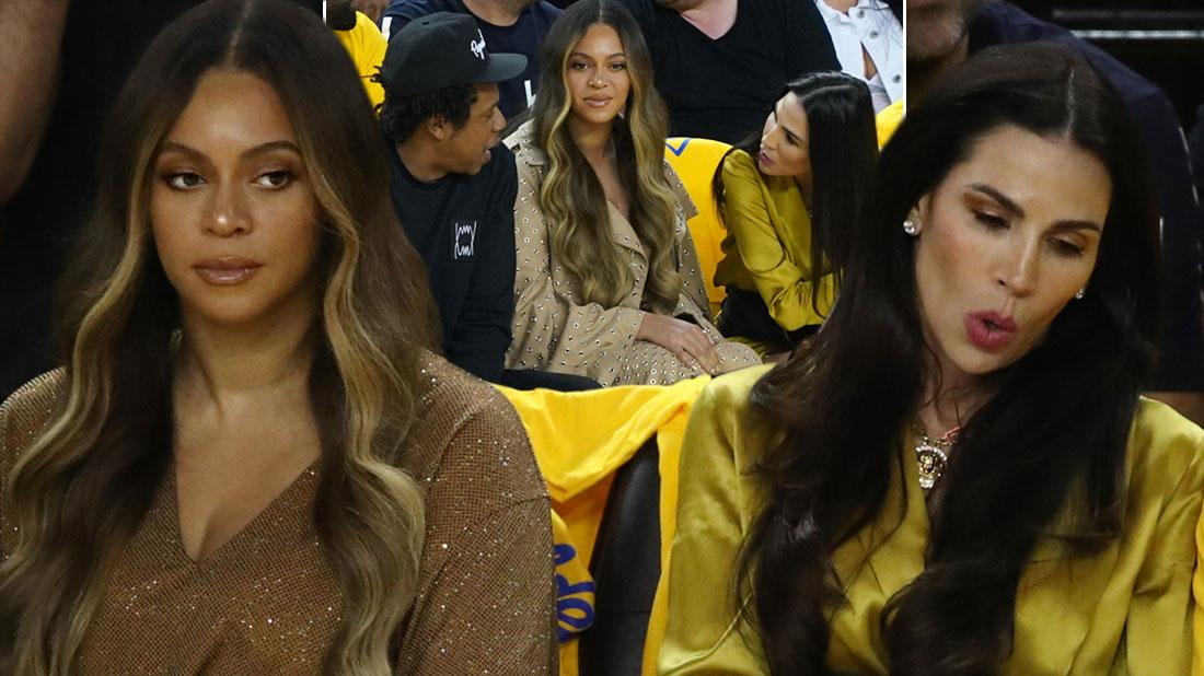 //Beyonce Gives Woman Talking Jay Z Death Stare NBA Finals PP
