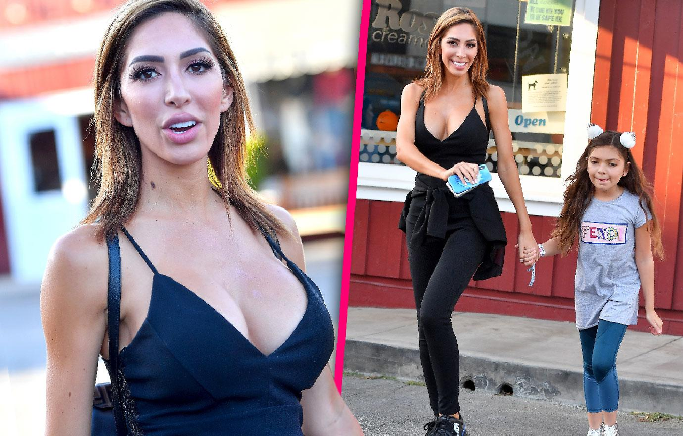 Farrah Abraham Takes Daughter For Ice Cream In Los Angeles