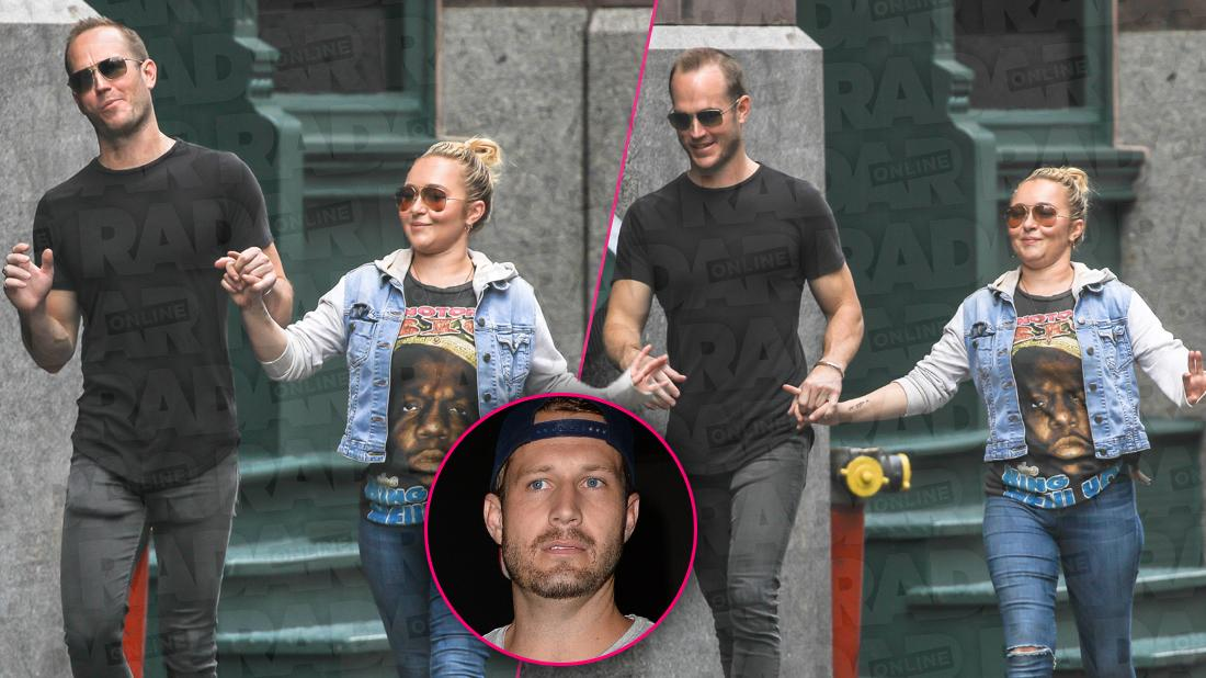 Hayden Panettiere with Boyfriend's Brother Spotted Holding Hands Smiling With Inset of Brian Hickerson Looking Angry