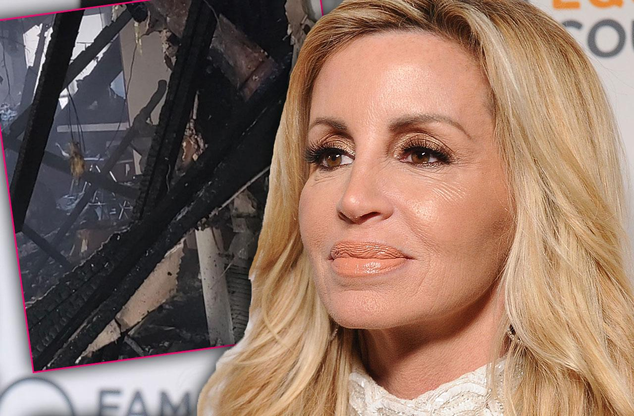 Camille Grammer Burned Down Home Photo