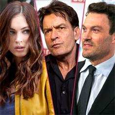 //megan fox not happy brian austin green on anger management charlie sheen sq