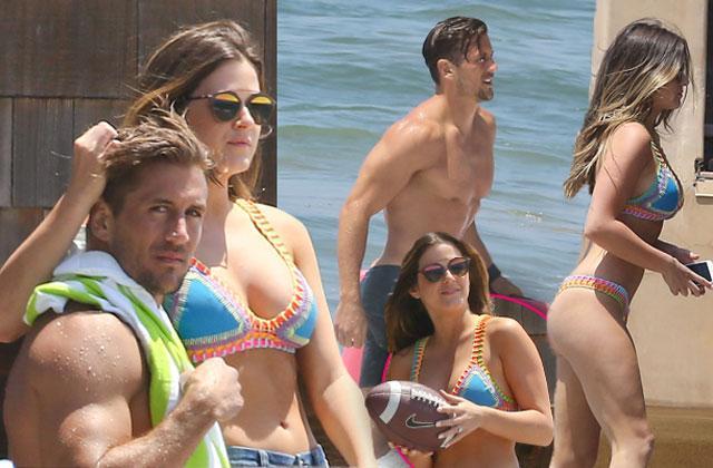 //bachelorette jojo fletcher bikini fiance jordan rodgers shirtless pda photos pp
