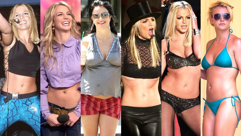 //britney spears stomach throughout years photos pp sl gal