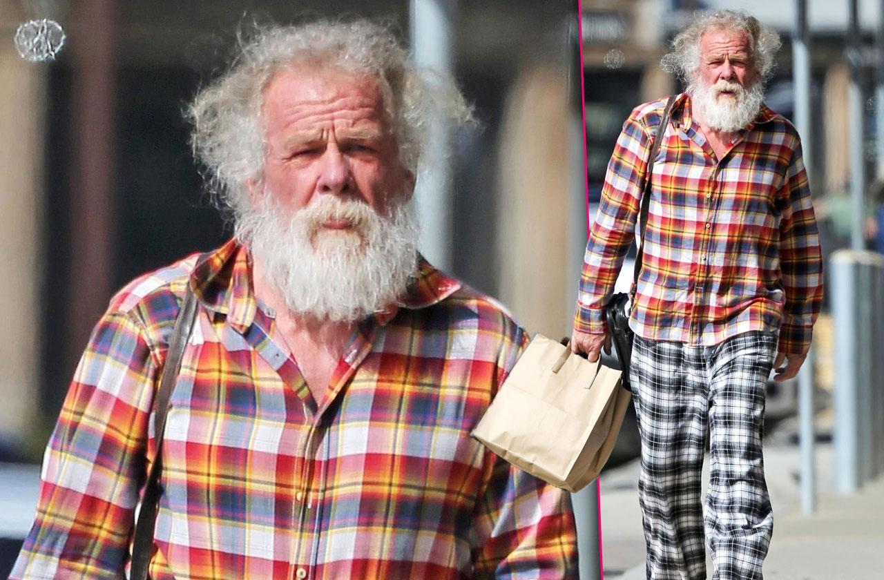 Nick Nolte aging bizarre outfit photos