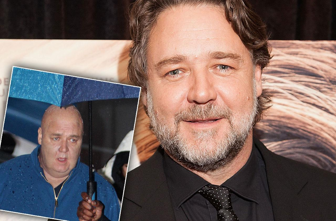 Russel Crowe Weight Gain Bald Photos