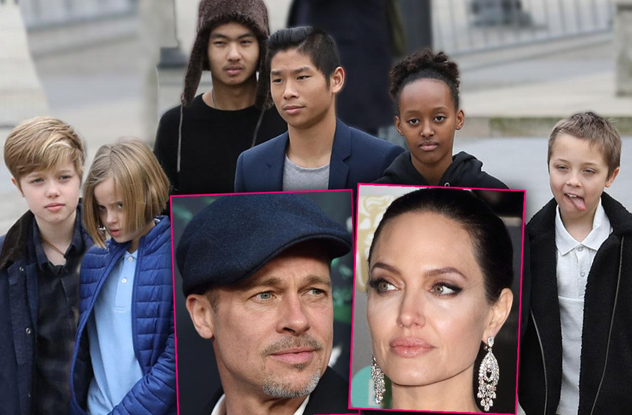 Brad Pitt And Angelina Jolie – Kids Caught In Crossfire Of Ugly Divorce