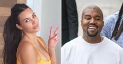 kim kardashian wears yeezy sliders kanye west divorce rf