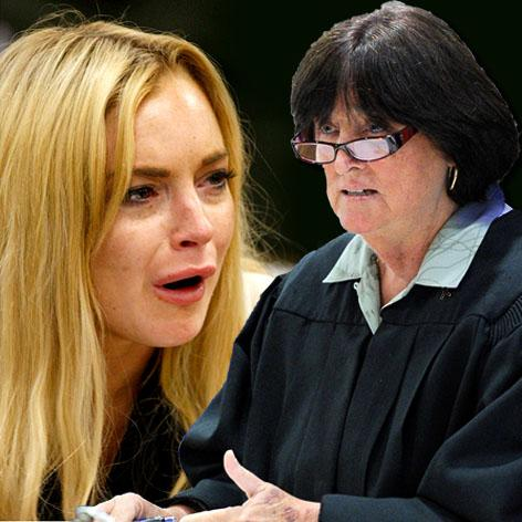 //lindsay lohan judge stephanie sautner