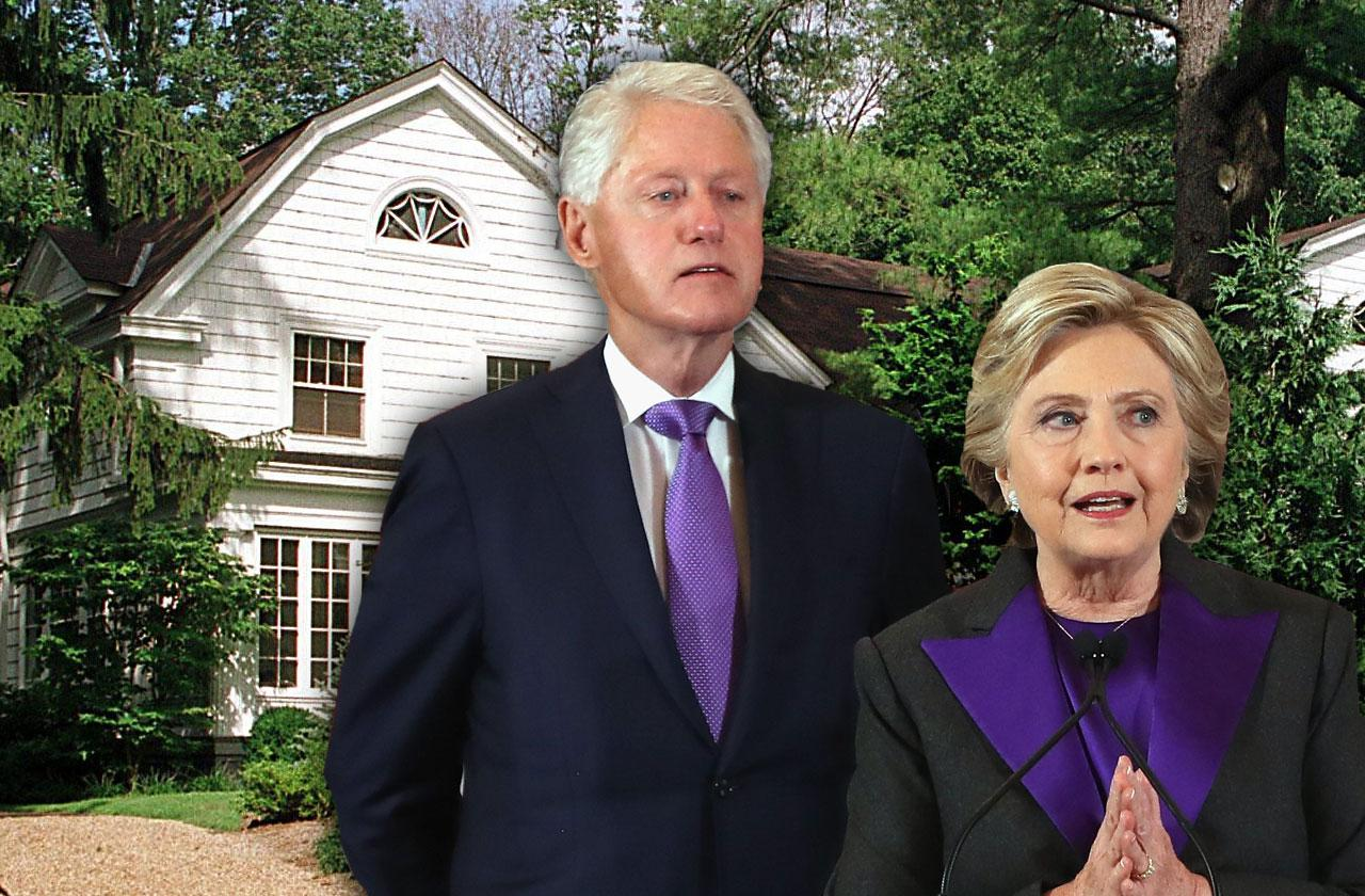 //hillary bill clinton home on fire pp