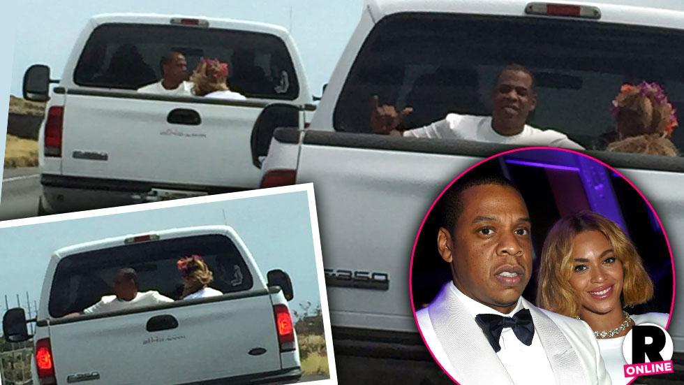 Beyonce & Jay Z Hawaiian Vacation Truck Ride