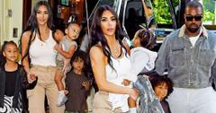 Kanye West, Kim Kardashian & Kids Leave Queens Church Performance