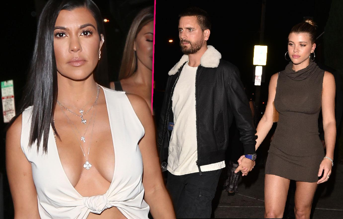 Scott Disick And Sofia Richie Dine With Kourtney Kardashian