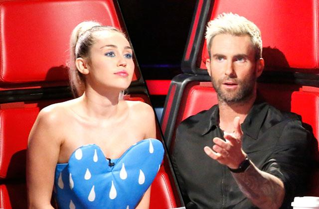 //Miley Cyrus Adam Levine The Voice Feud pp