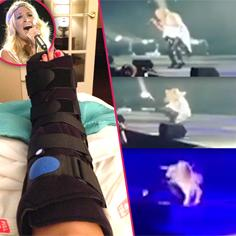 //carrie underwood falls on stage