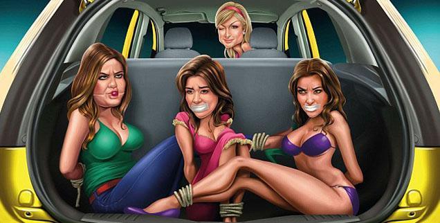 //paris hilton kardashians ford advertisement