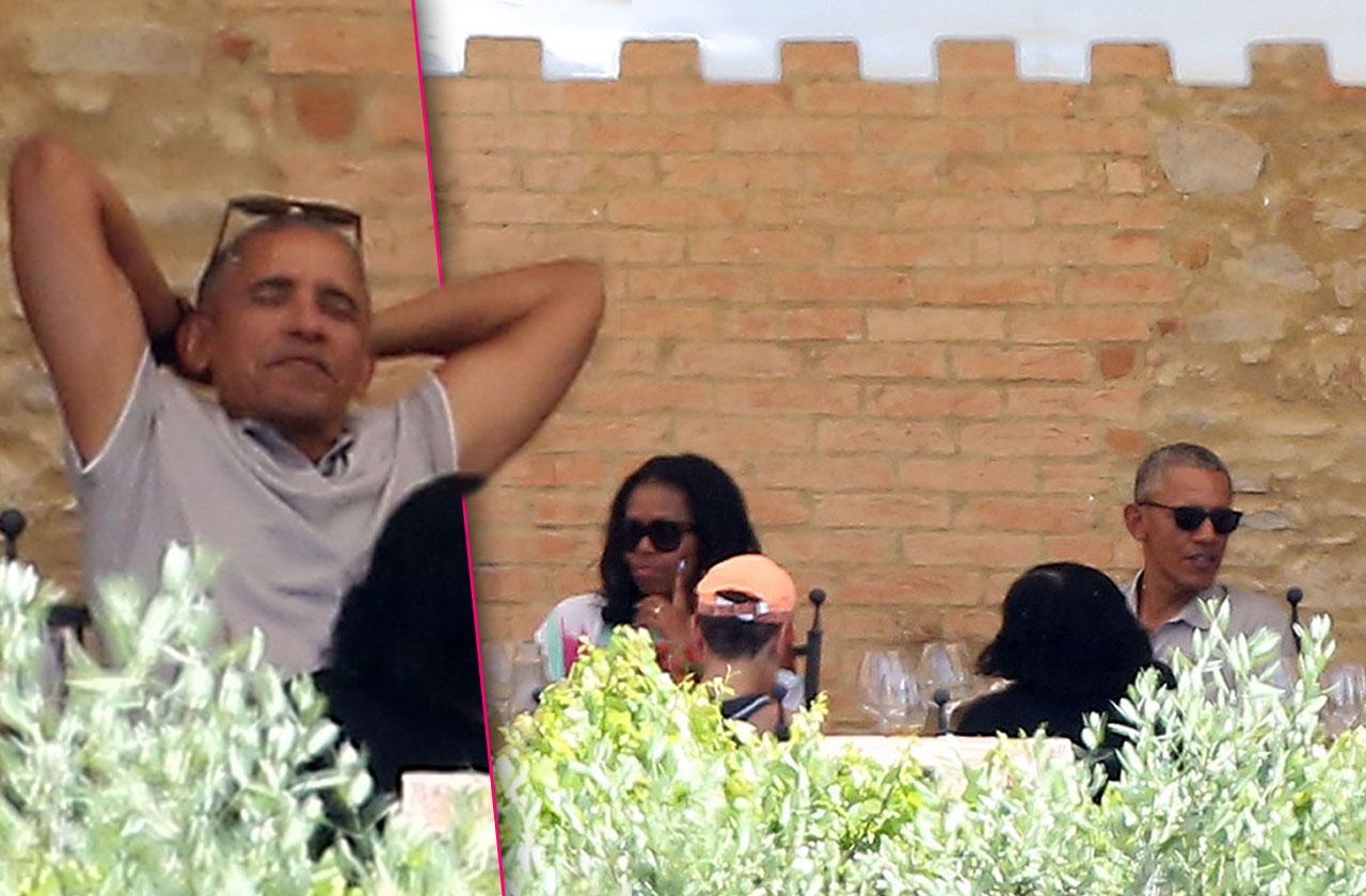 Barack Obama Family Vacation Italy