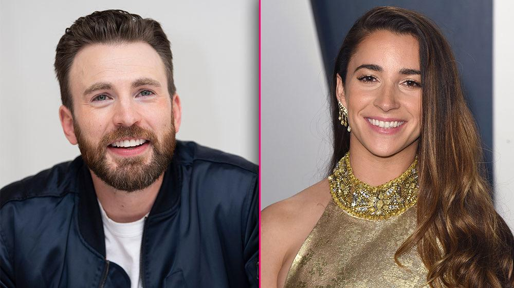 Chris Evans Cuddles Up With Olympian Aly Raisman's Dog After Puppy Play Date