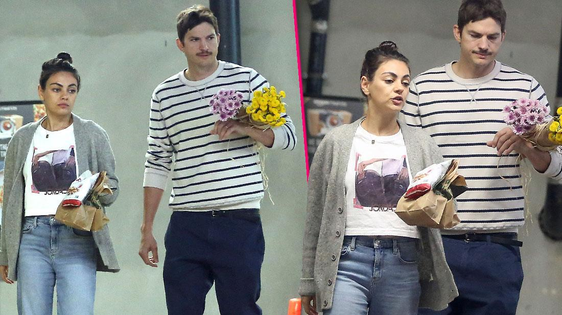 Ashton Kutcher Runs Errands With Mila Kunis