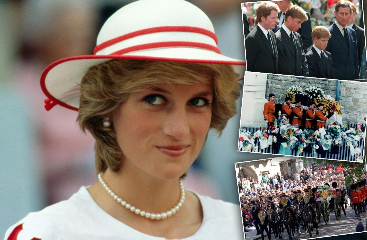 princess diana funeral photos death anniversary family drama