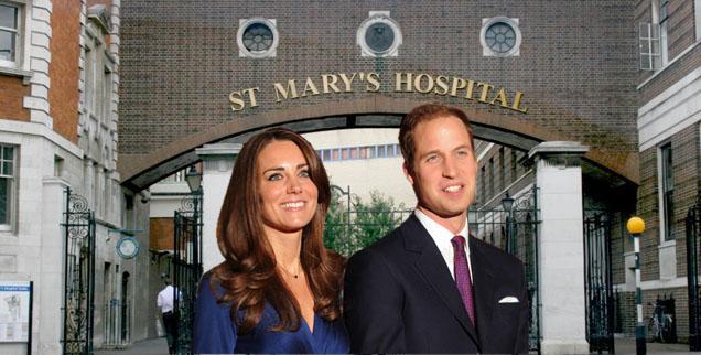 //photos of kate middletons hospital pregnancy st marys