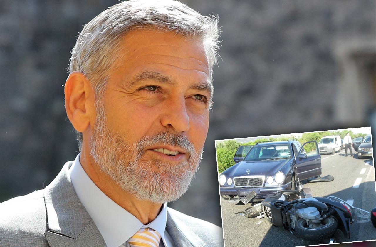 George Clooney Car Accident Photos